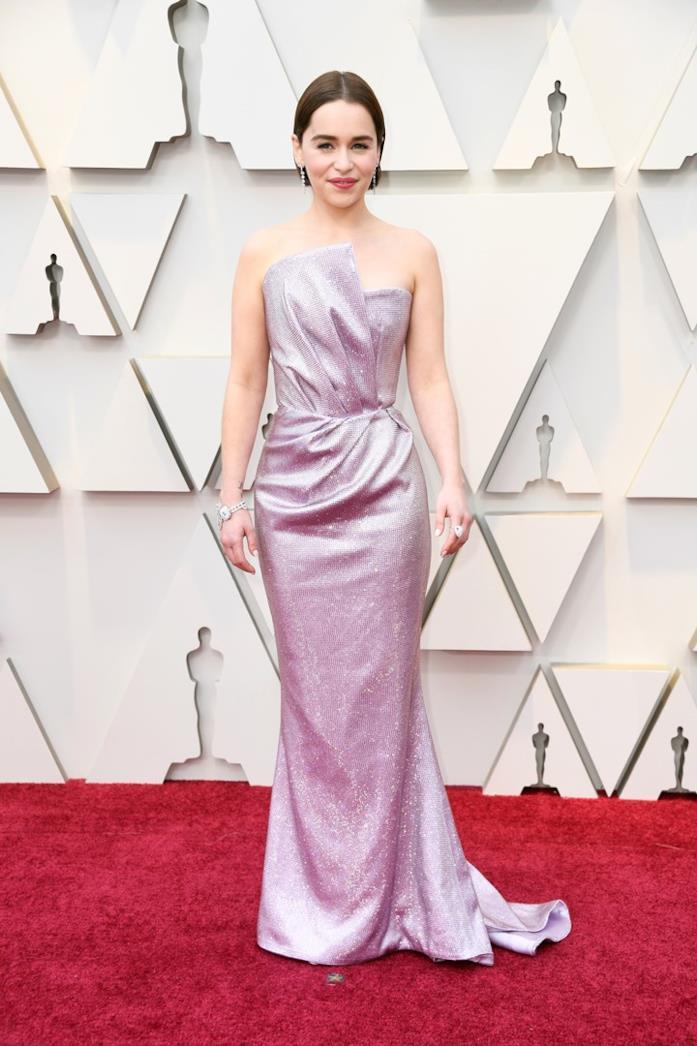 Emilia Clarke sul red carpet degli Oscar 2019