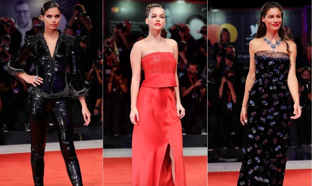 Collage red carpet Marica Pellegrinelli, Sara Sampaio e Barbara Palvin