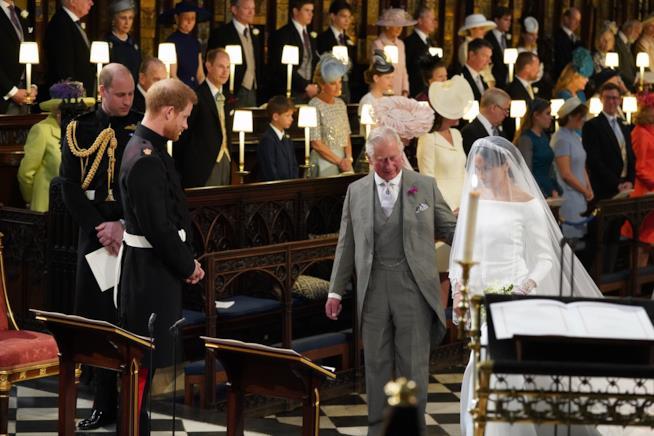Il Principe Carlo con Meghan Markle
