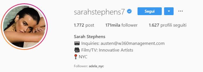 Profilo Sarah Stephens