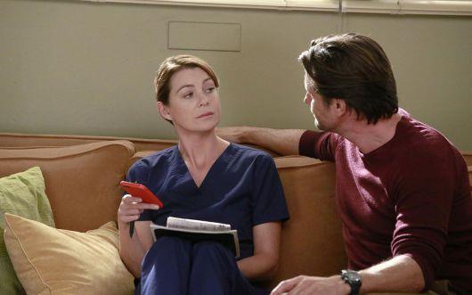 Ellen Pompeo e Martin Henderson in Grey's Anatomy 13