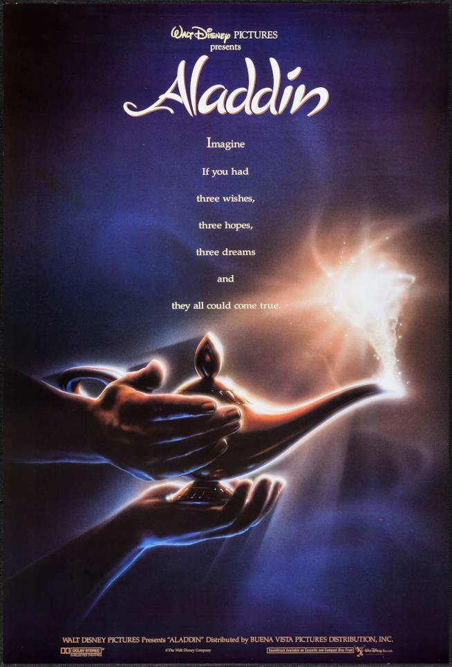 Teaser poster di Aladdin del 1992
