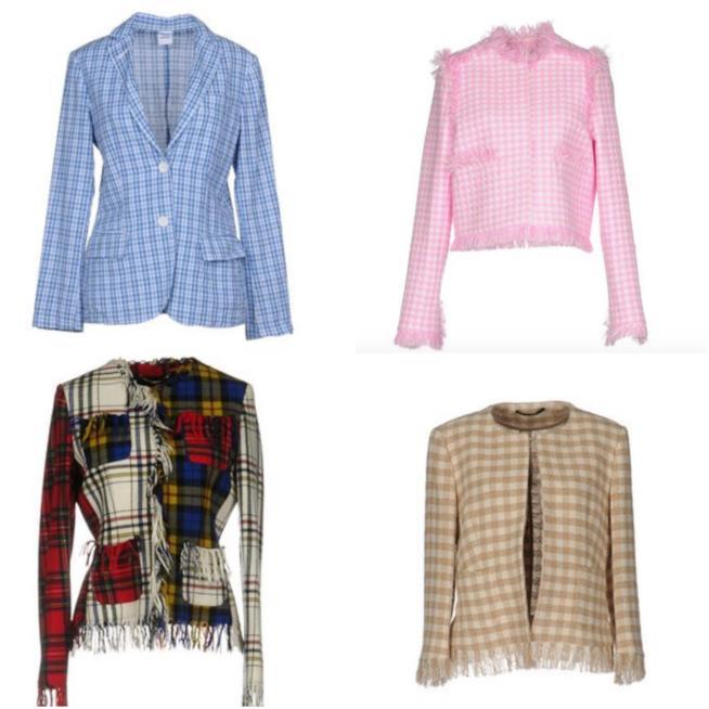 Collage di giacche check