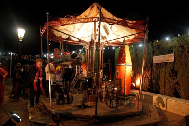Installazioni artistiche durante la Mercé