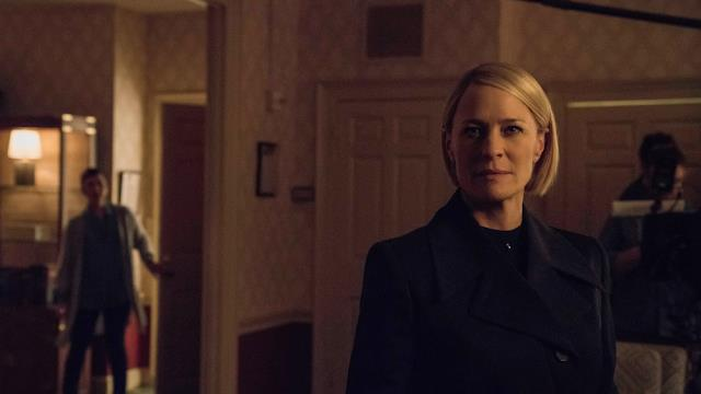 L'attrice Robin Wright in House of Cards 6