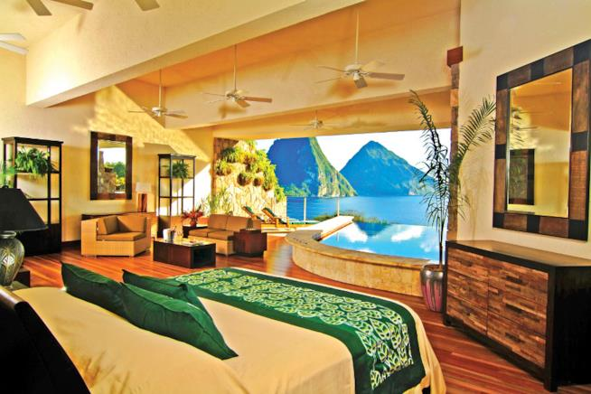 Il Jade Mountain Resort a St Lucia