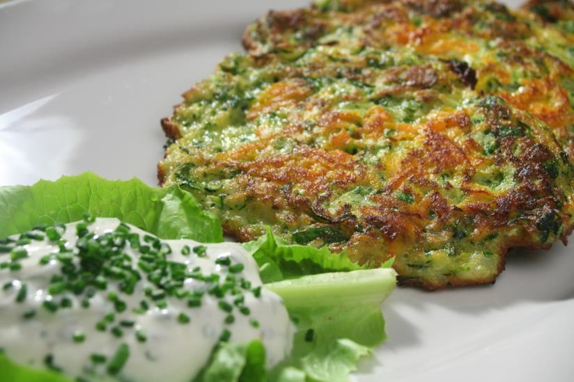 Pancake di broccoli e zucchine