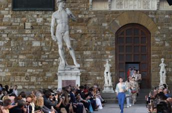 La sfilata Men P/E 2020 di Ferragamo a Firenze