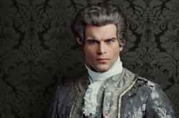 Un'immagine promozionale del Conte St. Germain di Outlander