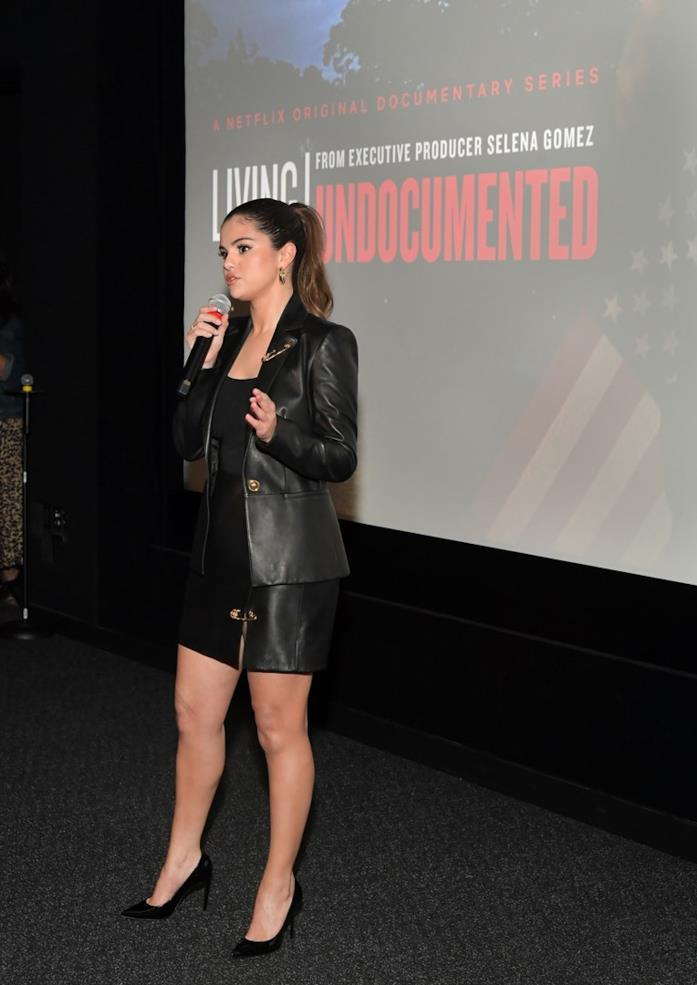 Selena Gomez allo screening del suo documentario per Netflix