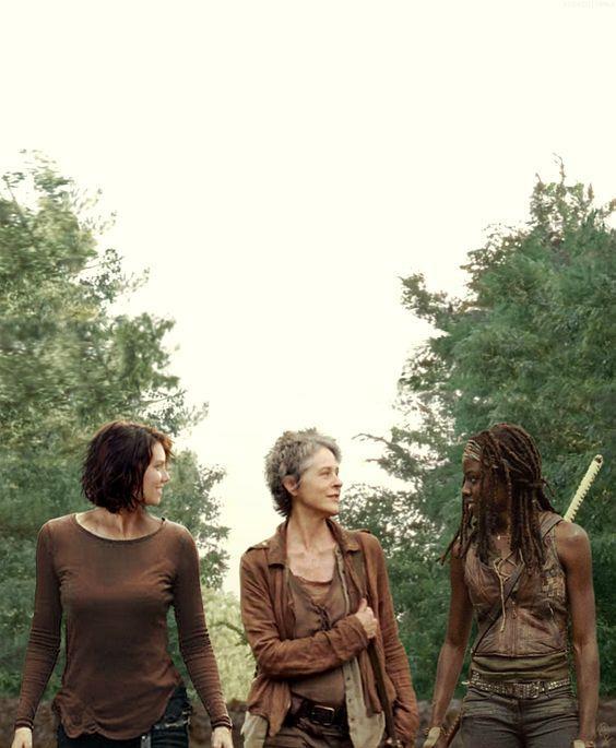 Maggie, Carol e Michonne