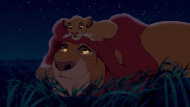 Simba e Mufasa di Il Re Leone