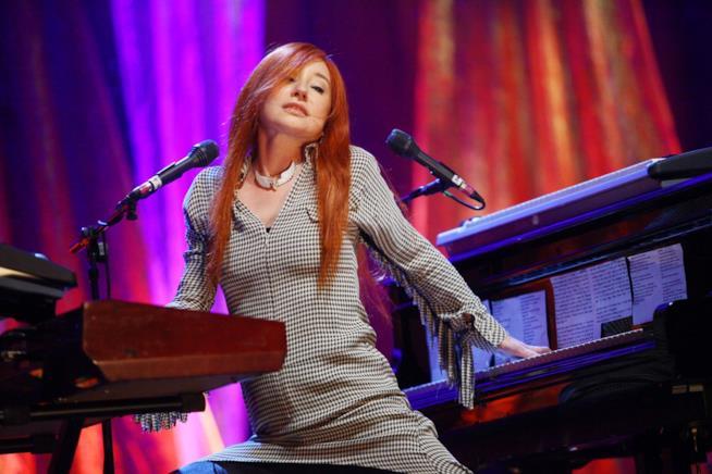 Tori Amos durante una sua performance live