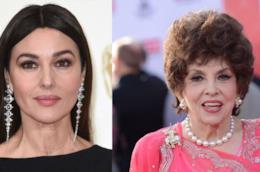 Le due attrici italiane Monica Bellucci e Gina Lollobrigida