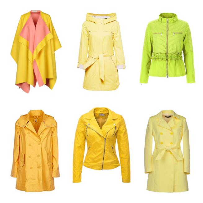 Giacche e trench gialli must have dell'autunno 2018
