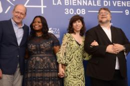 Richard Jenkins, Octavia Spencer, Sally Hawkins e Guillermo Del Toro a Venezia 74