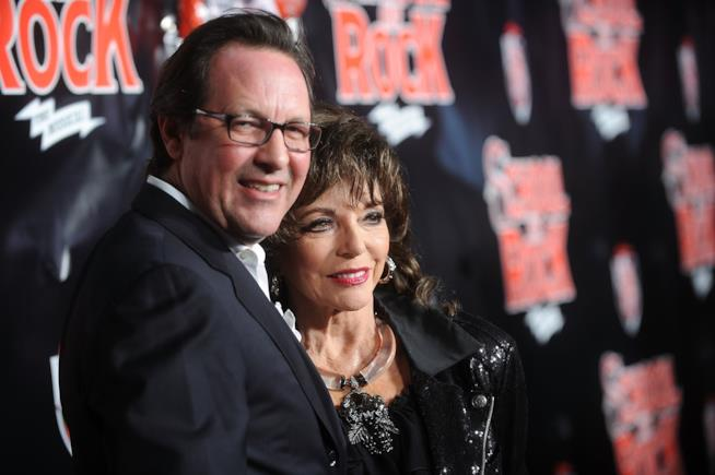 Joan Collins e Percy Gibson