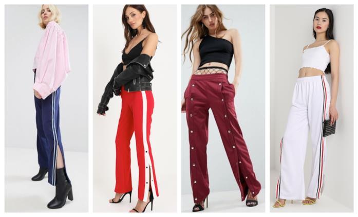 Con zip e bottoni laterali, i pantaloni di tendenza P/E 2018