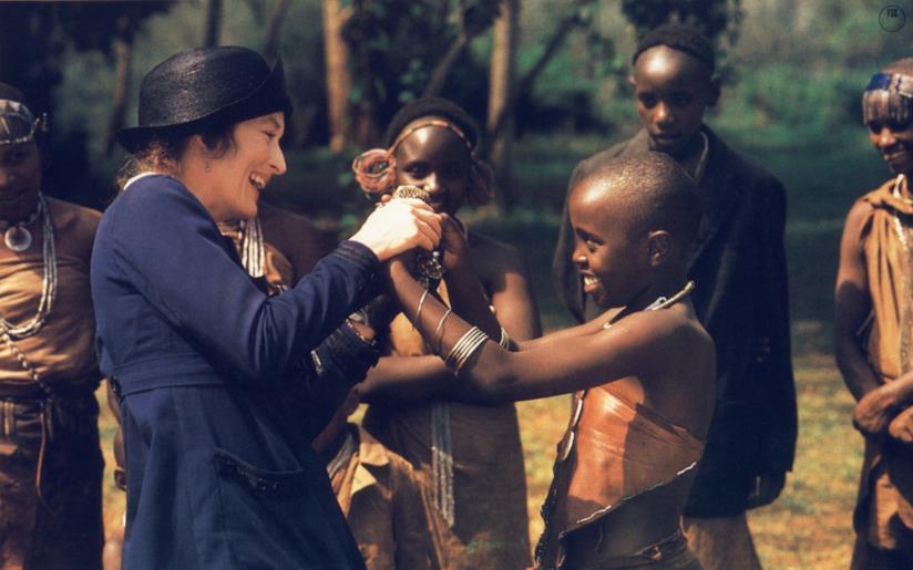 Meryl Streep in una scena del film La mia Africa