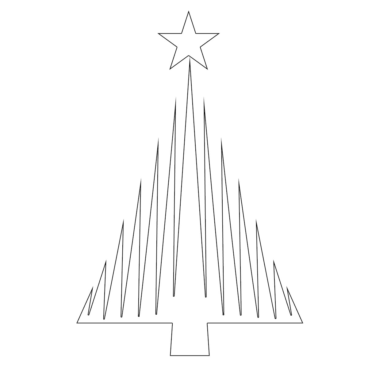 Forma Albero Di Natale Da Stampare Free Downloads