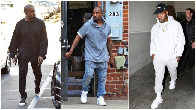 Il look uniforme di Kanye West