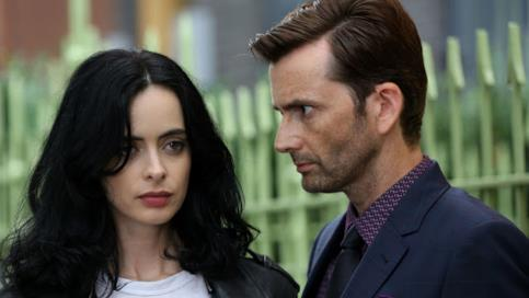 Krysten Ritter e David Tennant sul set di Jessica Jones 2