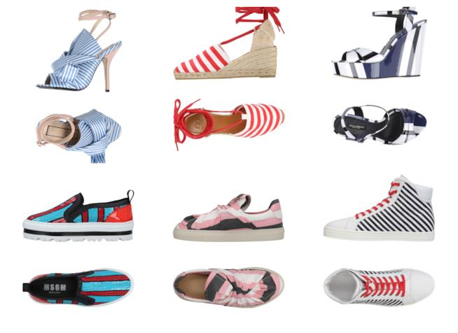 Le scarpe a righe di tendenza per l'estate 2018
