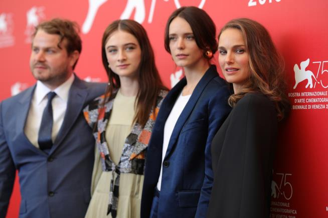 Il cast del film Vox Lux a Venezia 75