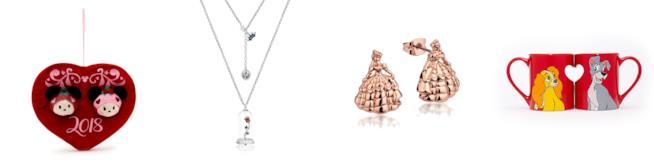 Dcorazioni, gioielli e tazze Disney per San Valentino