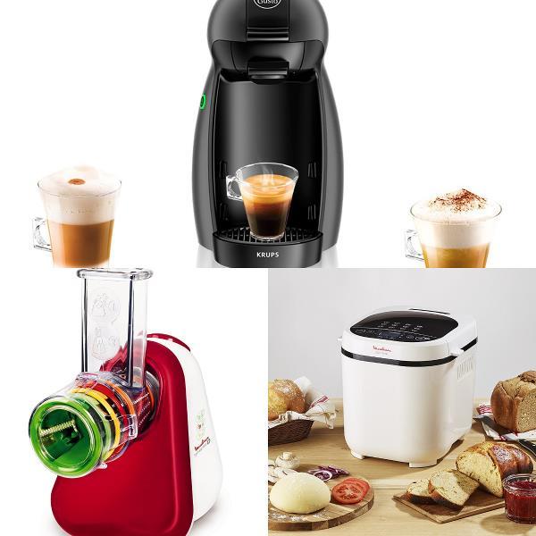Macchina per caffè Nescafé, tritatutto Moulinex e macchina per il pane Moulinex