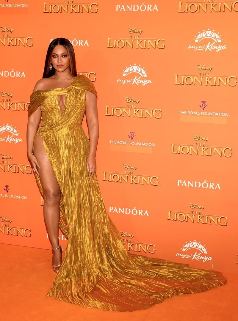 Beyoncé alla premiere europea de Il re leone