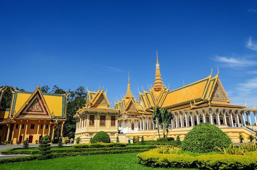 Il Palazzo Reale a Phnom Penh in Cambogia