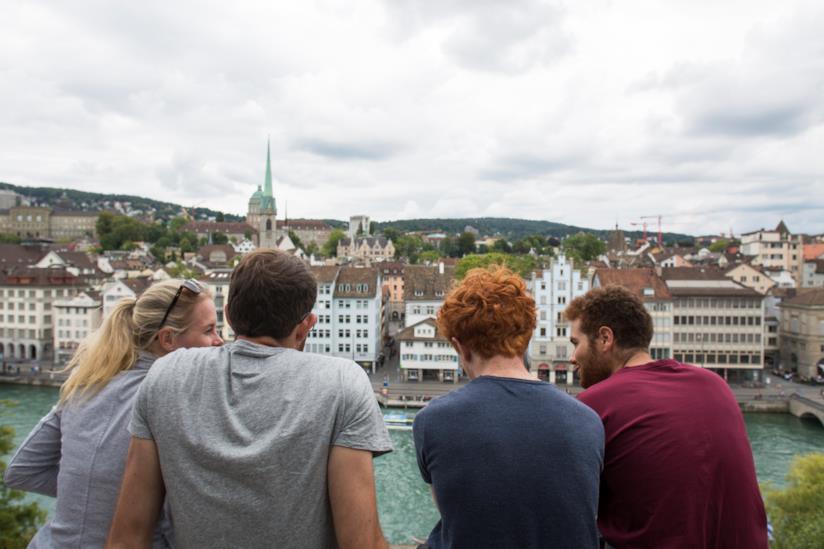 Panorama di Zurigo dalla Lindenhof