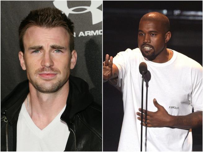 Chris Evans e Kanye West