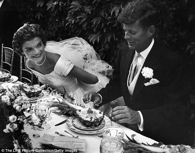 Jackie e JFK al banchetto di nozze