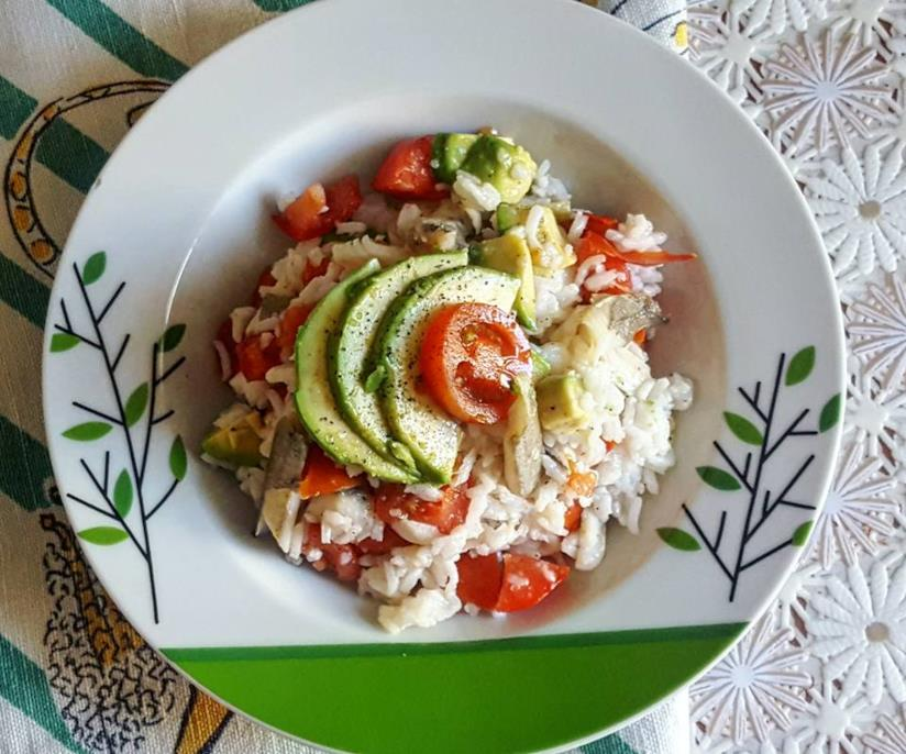 Riso, verdure e pesce