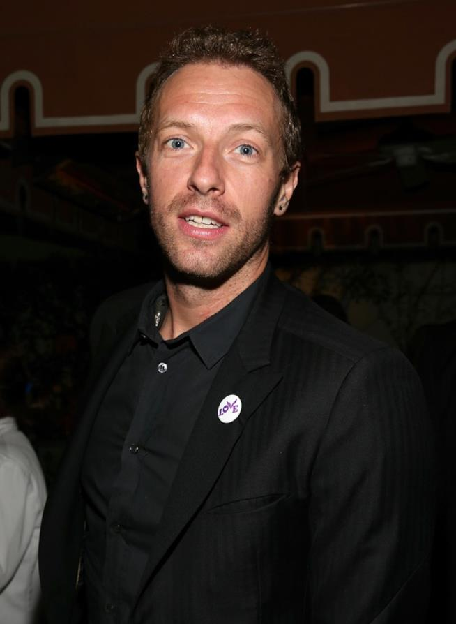 Chris Martin in primo piano