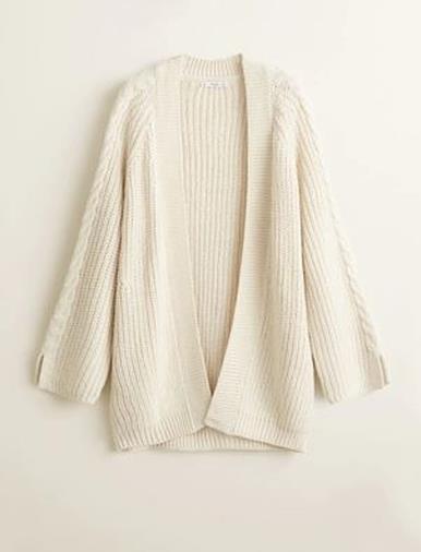 Cardigan maglia spessa