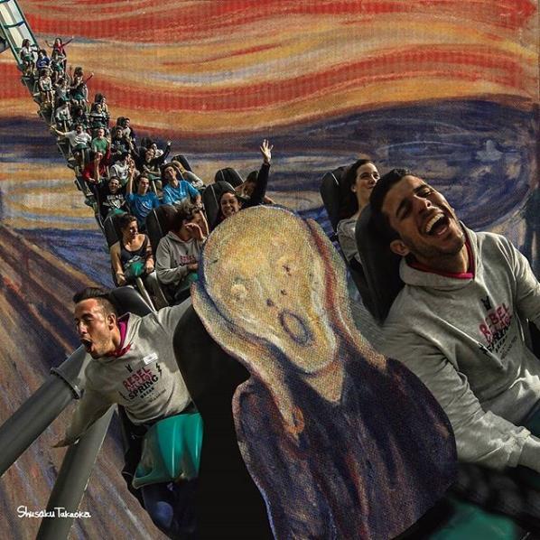 L'urlo di Munch alle giostre