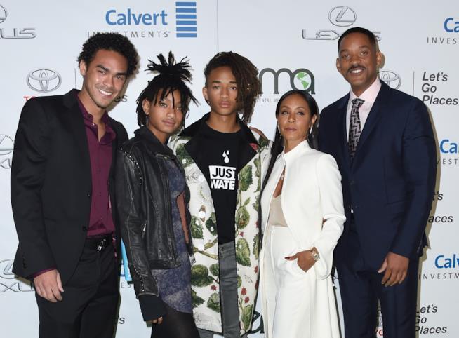 Will Smith con la sua famiglia