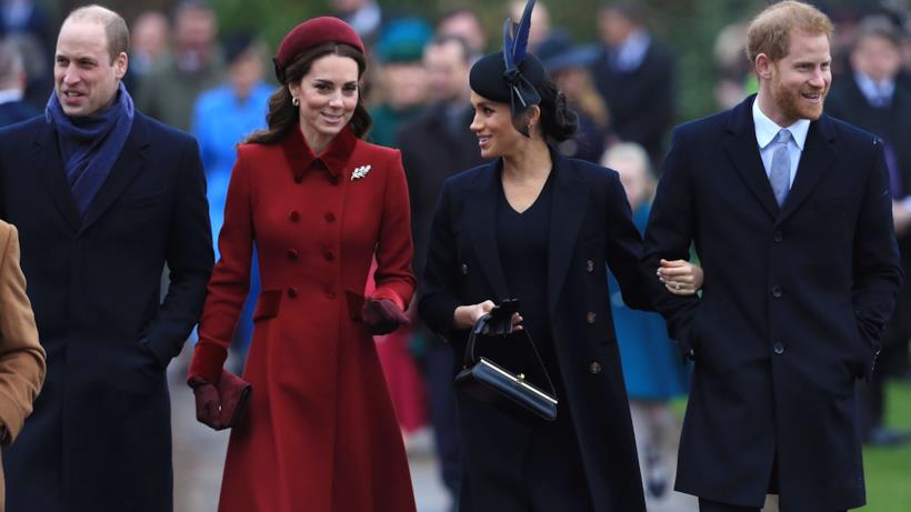 William e Kate con Meghan e Harry
