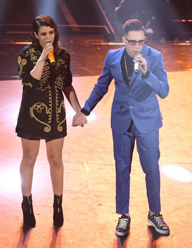 Federica Carta e Shade sul palco di Sanremo 2019