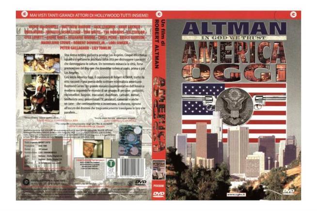 La cover del DVD di America Oggi, regia di Robert Altman