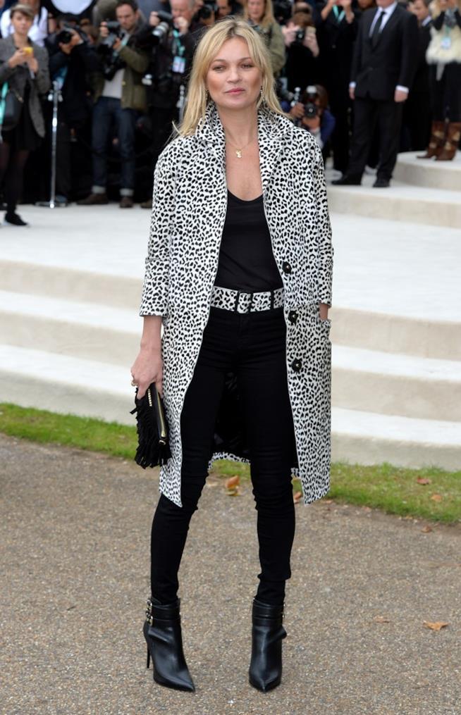 Kate Moss all'evento Burberry Prorsum