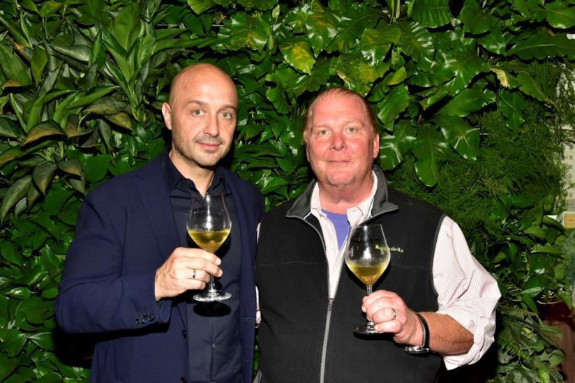 Gli chef Joe Bastianich e Mario Batali