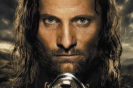 Viggo Mortense in una locandina de Il signore degli anelli