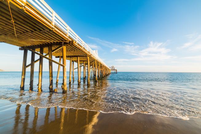 La spiaggia di Un Mercoledì Da Leoni