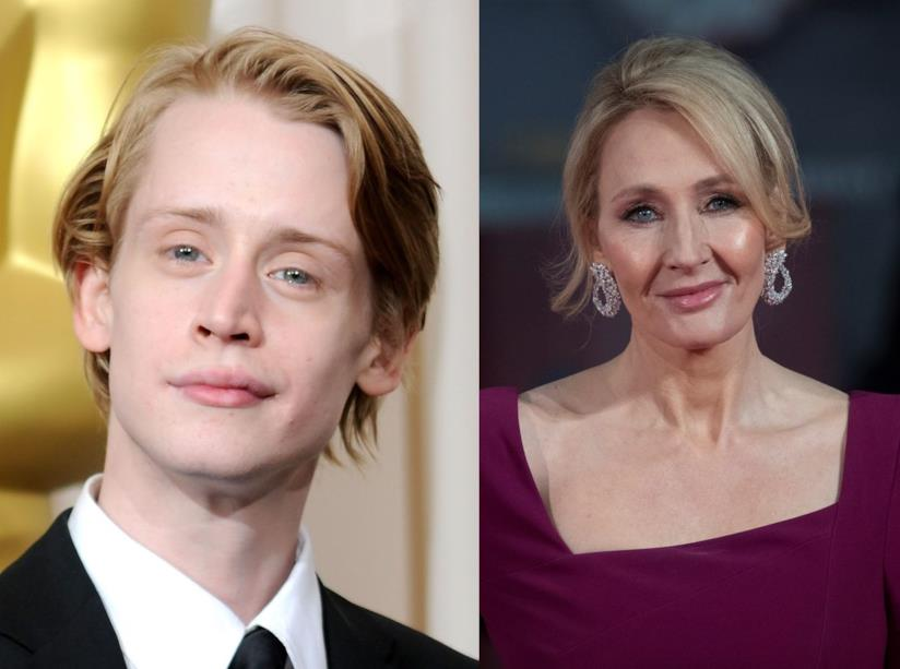 L'attore Macaulay Culkin e l'autrice J.K. Rowling