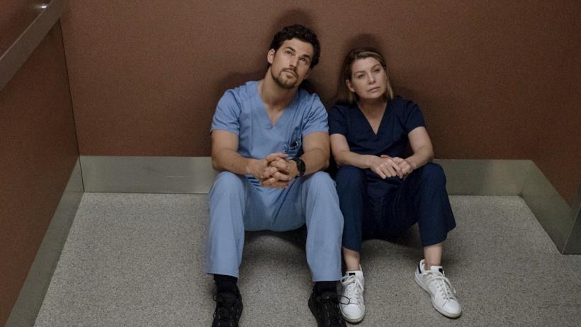 Meredith e Andrew in una scena di Grey's Anatomy 15