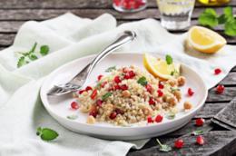 Ricetta light insalata di quinoa e melagrana